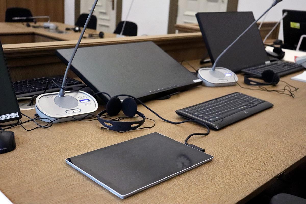 Digitaler Gerichtssaal